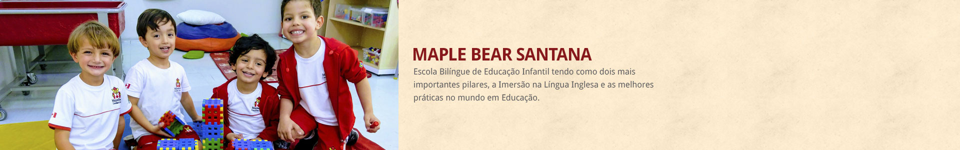 banner a maple bear santana